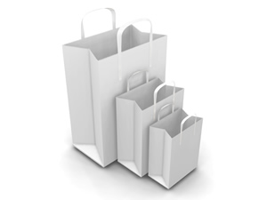 3D image of shopping bags
