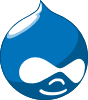 Druplicon, Drupal's logo, the blue drop with sunglasses
