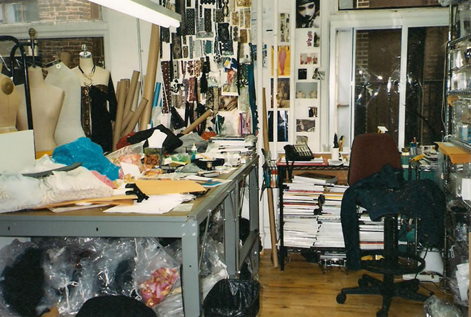 New York City couture design room