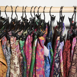 Clothes rack of designer fabrics