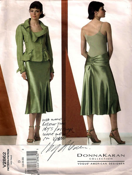 Vogue Donna Karan Collection pattern by Iby Abraham