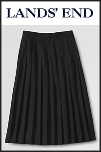 Knife pleat skirt from Lands' End