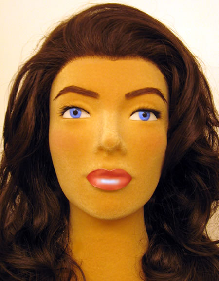 Poly Star Lady mannequin with molded eyes and lips