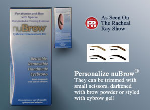 False Eyebrows for Mannequins from Nubrow