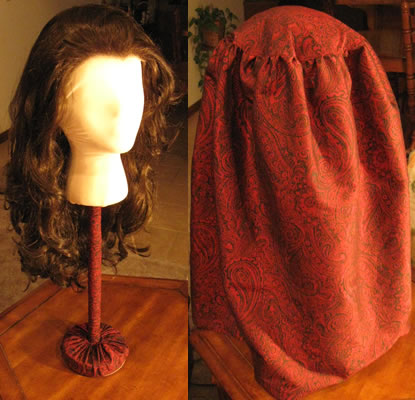 Handmade wig stand for long wig