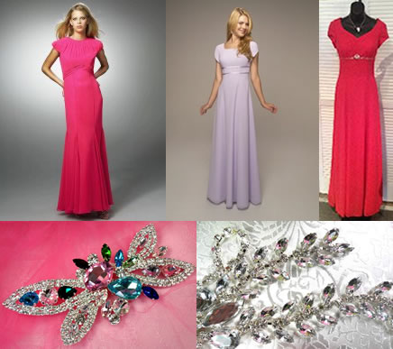 Modest formal dresses from Landa, Venus and A Formal Choice