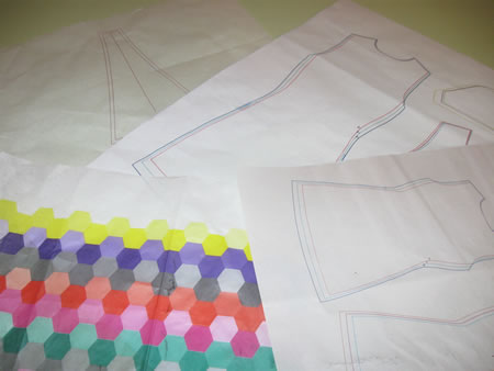 Samples of sewing pattern paper