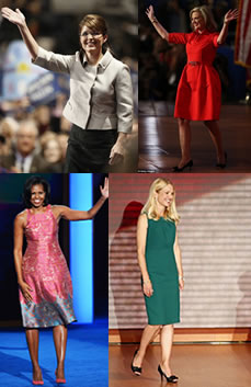 Political convention choices of Sarah Palin, Ann Romney, Michelle Obama and Janna Ryan