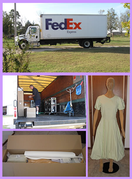 Delivery of a Poly Star Lady foam mannequin from Germany via FedEx Express