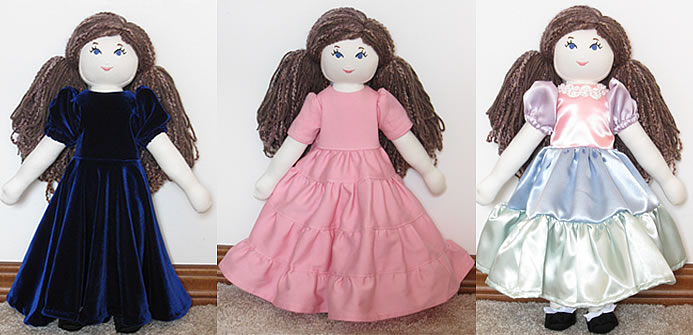 Home-sewn rag dolls