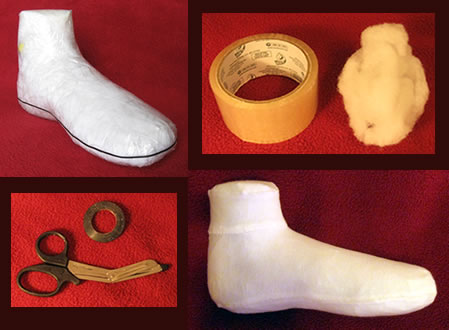 Steps and supplies for making a custom shoe last