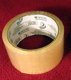 Packaging tape used for wrapping a shoe last mold