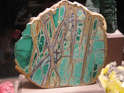 Green rock from the Smithsonian Museum of Natural History