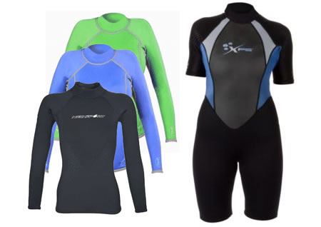 NeoSport XSPAN tops and XPS Steam Spring Wetsuit