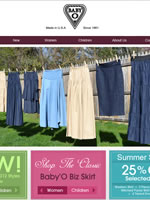 Baby O Jewish skirt manufacturer based in the USA