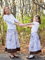 The Modest Mom maternity and nursing clothing and women's regular long skirts