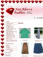 Far Above Rubies clothing with traditional, basic styling