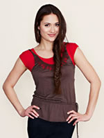 Screenshot of Halftee layering top with cap sleeves