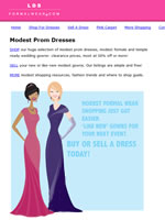 Modest Formal and Bridal Dress Resale