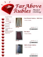 Far Above Rubies culottes and skorts