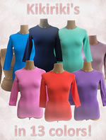 Shell Sheli knit layering tees, dresses and skirt extenders from Kiki Riki, Jacomino and Linda Leal