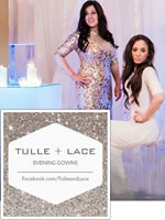 Tulle and Lace formal modest gown rental shop in New York City