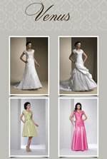 Venus modest formal, prom and bridal gowns