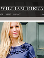 Website of William Riera, modest clothing designer