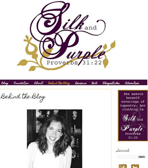 Abby of the Silk and Purple Christian blog